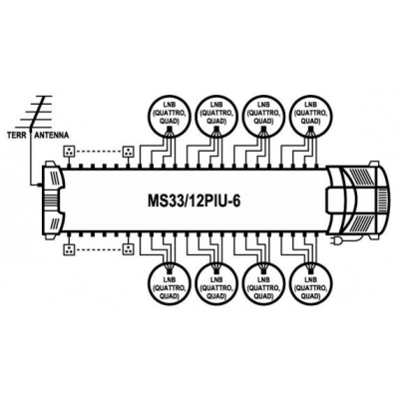Emp Centauri Ms3312piu 6 Diseqc Multiswitch